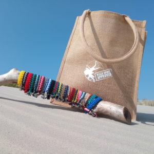 sacs de plage et shopping en jute